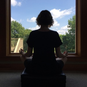 meditation by window