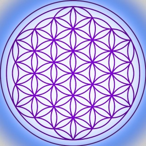 flower of life blue and purple